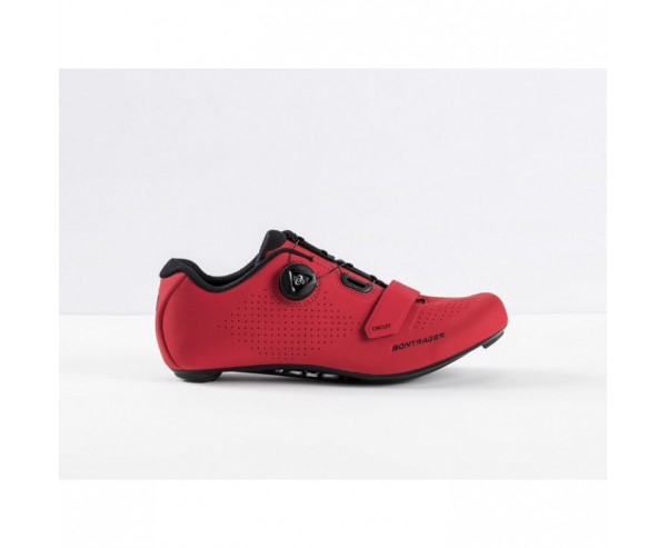 Bontrager Circuit Road cycling Shoe Red with Dial Adjustment