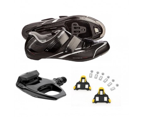 R078 SPD-SL shoes plus Shimano R540 pedal bundle deal incs FREE cleats