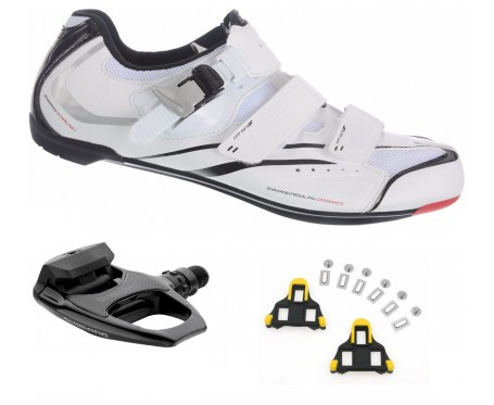 R088 SPD-SL shoes plus Shimano R540 pedal bundle deal incs FREE cleats