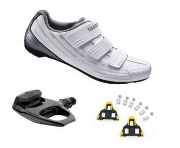 RP2 Womans shoes SPD-SL plus Shimano R540 pedal bundle deal incs FREE cleats