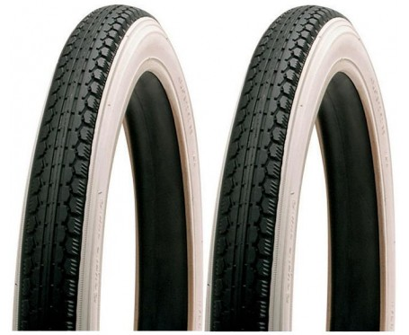 20 x 1.75 47-406 Pair Whitewall Tyre Folding Bike etc