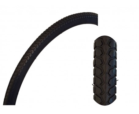 26 x 1 3/8 37-590 Traditional Vintage Tyre Black with  + FREE TUBE