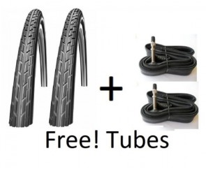 28 x 1 1/2 Vintage Roadster Antique tyres and tubes pair 40-635 Dutchpac