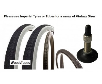 Selection of Vintage Bicycle Tyre and Tube for Roadsters