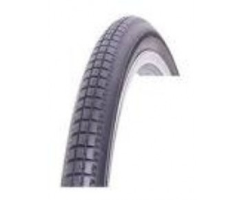 26 x 13/8 37-590 Traditional Vintage Tyre Black with Kevlar Puncture Protection + FREE TUBE