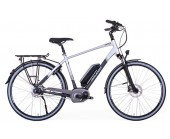 SOLD OUT Raleigh Motus Cross Bar Silver Electric Bike disc brakes/derailleur gears