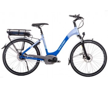 SOLD OUT Raleigh Motus Low Step blue Electric Bike with derailleur gears & disc disc brakes
