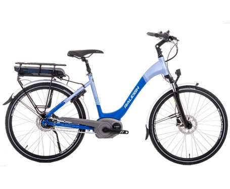 aleigh Motus Low Step blue Electric Bike with derailleur gears & disc disc brakes