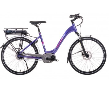 SOLD OUT Raleigh Captus Low Step Purple Electric Bike derailleur gears and disc brakes