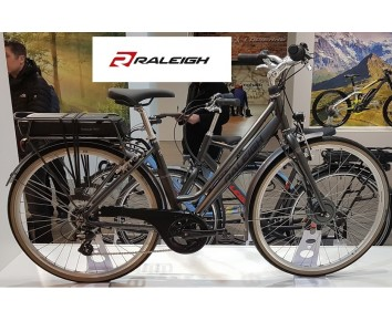 Raleigh Pioneer E Low Step 700C Grey Electric Bike