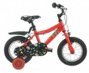 "12"" Raleigh Atom Boys Bike Red Suitable for 2 1/2 to 4 years old"