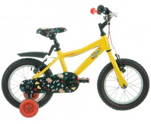 "14"" Raleigh Atom Boys Bike yellow Suitable for 3 to 4 1/2 years old"