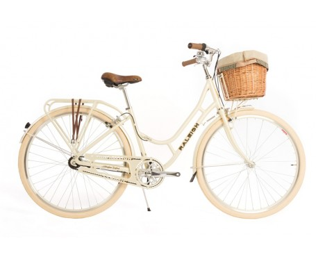 Raleigh Fern 2019 Cream 3 speed ladies bike with Basket