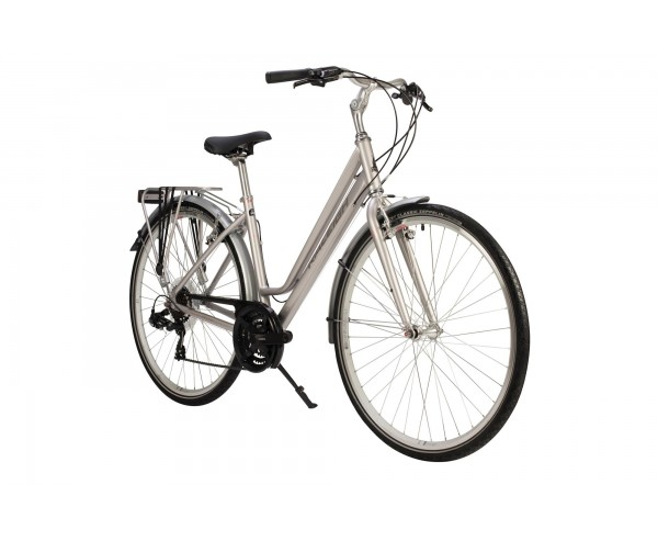 PIONEER TOUR LOW STEP 2019 SILVER or SAGE COLOUR WOMENS LADIES HYBRID CITY BIKE