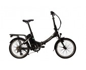 Raleigh STOW-E Way 2019 20 inch folding bicycle electric bike TranzX E bike system Black