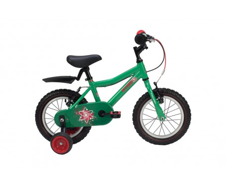 "14"" Raleigh Atom 2019 Boys Bike Green Suitable for 3 to 4 1/2 years old"