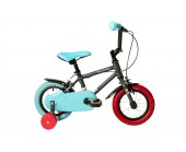 "12"" Raleigh Pop 2020 Boys Bike Black Suitable for 2 1/2 to 4 years old"
