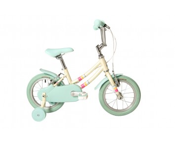 "14"" Raleigh Pop 2020 girls White Bike Suitable for 3 to 4 1/2 years old"