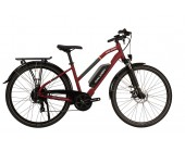 Raleigh Array Open frame/Step thru Red Electric Bike 2020