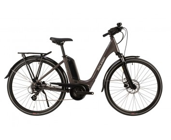 Raleigh Motus Low Step Frame Grey or Silver Bosch Electric Bike derailleur gears and disc brakes 2020