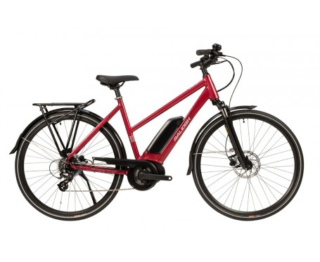Raleigh Motus Open Frame Red Bosch Electric Bike derailleur gears and disc brakes 2020