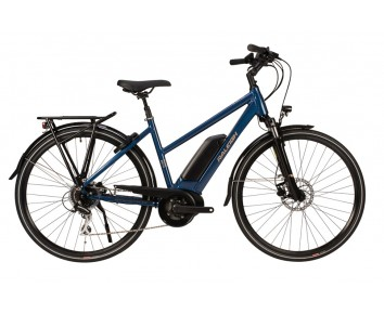 Raleigh Motus Tour Open Frame Blue Bosch Electric Bike derailleur gears and disc brakes 2020