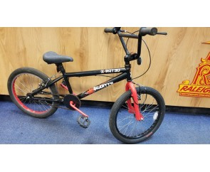 Second hand X-Rated Black & red BMX for ages 6-10