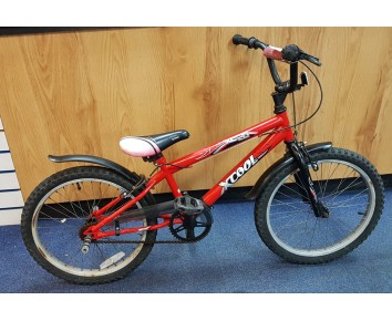 "Second hand 20"" boys bike Black & red BMX for ages 6-10"