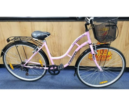 Second hand Tiger Town and Country ladies bike Pink with Basket