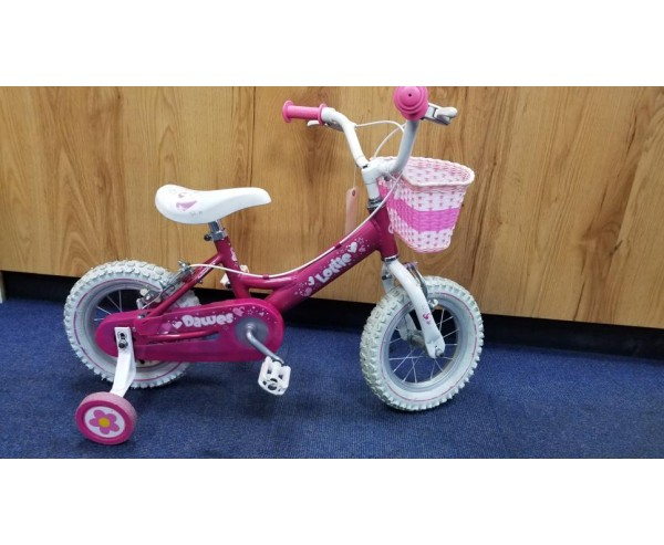 """Second hand 12"""" Dawes Lottie Girls Bike Suitable for 2 1/2 - 4 1/2 years old"""