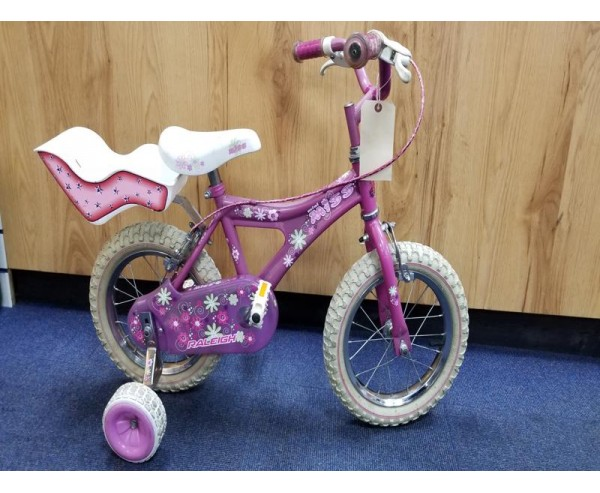 """Second hand 14"""" Raleigh Miss Girls Bike Suitable for 3 1/2 - 5 1/2 years old"""