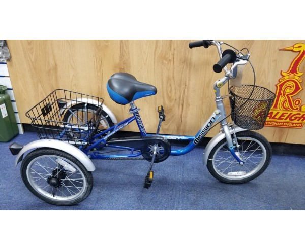 Second Hand Mission Trike Low Step Trilogy 16″ Special Needs Tricycle
