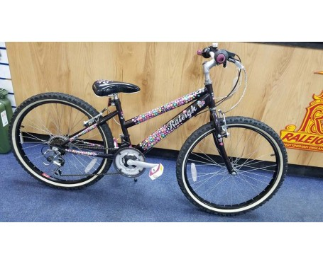 "SOLD SOLD SOLD Second hand Raleigh Krush 24"" girls bike 13"" frame for age 8-12 years old Kids Mountain Bike"