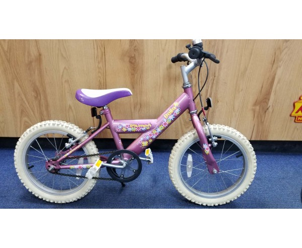 "Second hand 16"" Triumph Bella Girls Bike Suitable for 4 1/2 - 6 1/2 years old"