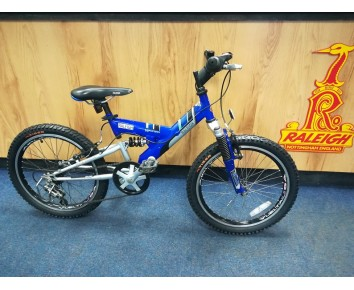 "Second hand Raleigh Max  20"" Kids Mountain Bike Full Suspension"