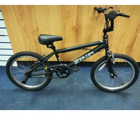 "Second hand Zinc 20"" Kids BMX Bike black"