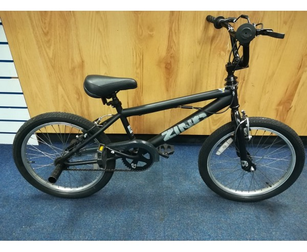 "SOLD SOLD Second hand Zinc 20"" Kids BMX Bike black"