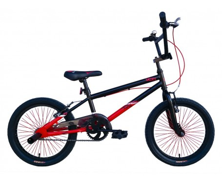 "18"" UCX 1 BMX Black/Red for 5 to 8 years old"