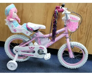 "14"" Lottie Girls Bike Suitable for 3 to 4 1/2 years old"