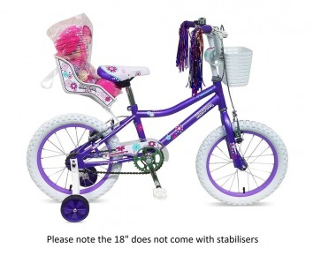 """18"""" Blossom Girls Bike Suitable for 5 to 8 years old"""