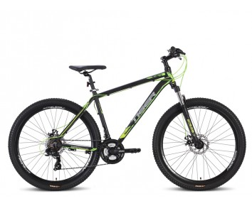 "Tiger Ace V2 Mountain Bike 27.5"" Wheels Disc Brakes Boy/Adult Mountain bike Black/Green"