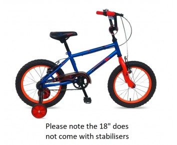 "18"" Frontier Boys Bike Blue 5 to 8 year old"