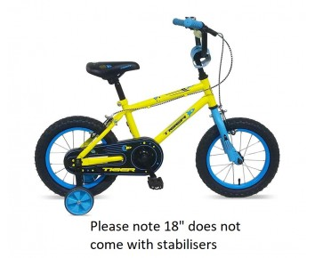 """18"""" Frontier Boys Bike Yellow  5 to 8 year old"""