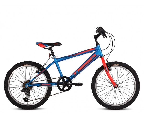 """20"""" Tiger Warrior Blue Red 10"""" frame Boys Bike for 5 to 8 years old"""