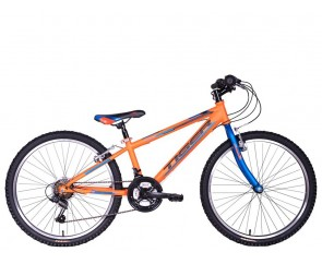 """24"""" Tiger Warrior 12"""" frame Boys 18 speed mountain Bike. Orange for ages 7 to 11 years old"""