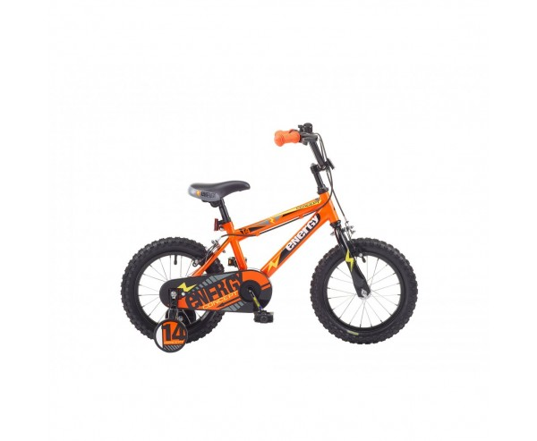"14"" Concept Energy Boys Single Speed, 14"" Wheel, Orange For 2 1/2 to 4 years old"