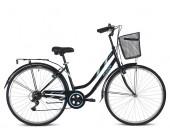 Tiger Vintage Ladies Hybrid Bike Black