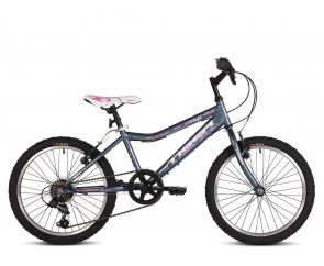"20"" Tiger Angel Girls Graphite/Pink Bike for 5 to 8 years old"