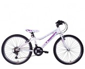 "24"" Wheel Tiger Angel Girls Bike for ages 7 to 11 White/Purple"