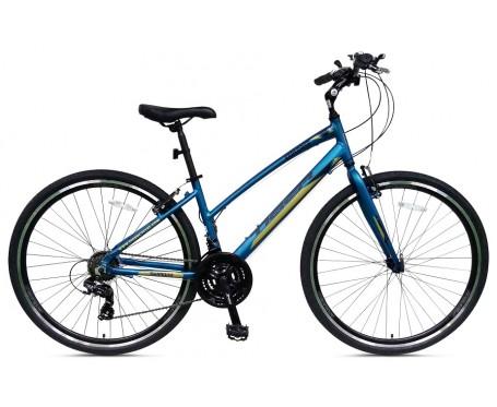 "Tiger Explorer Hybrid Bike Alloy Frame 21 speed Gears 16"" Ladies Frame"
